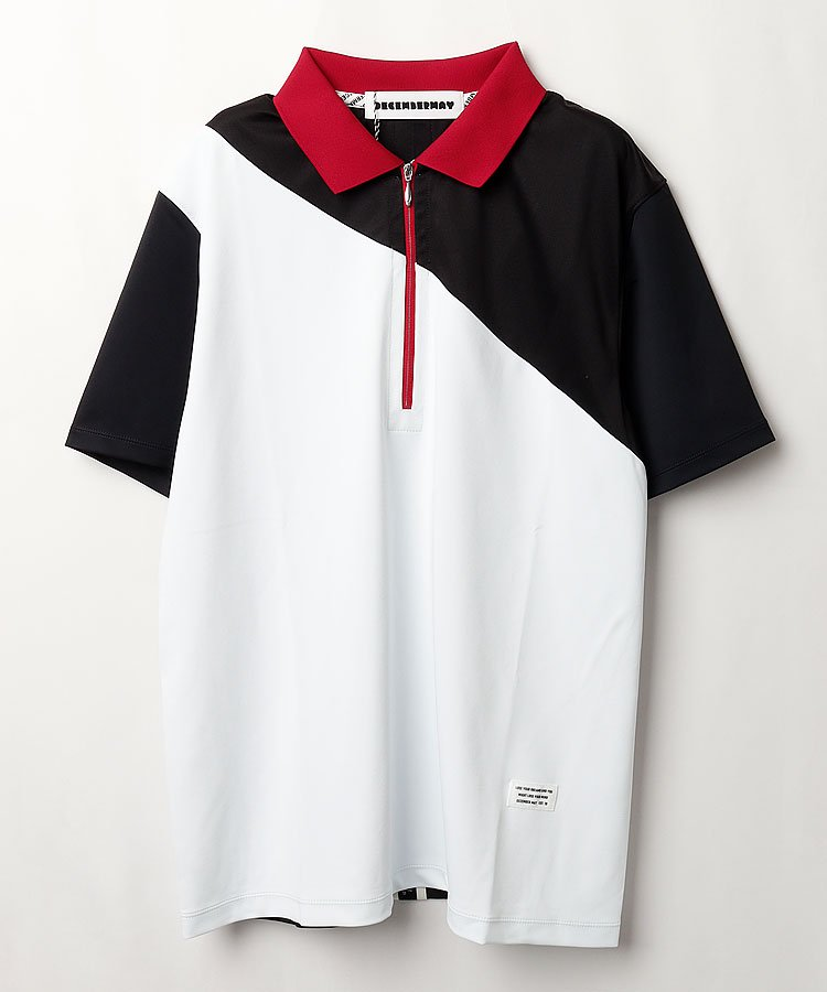 ディッセンバーメイ DM COOL&DRY◆配色半袖ポロシャツ