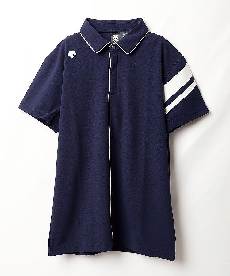 デサントゴルフ DE 涼しさ続く◆パイピング切替半袖シャツ