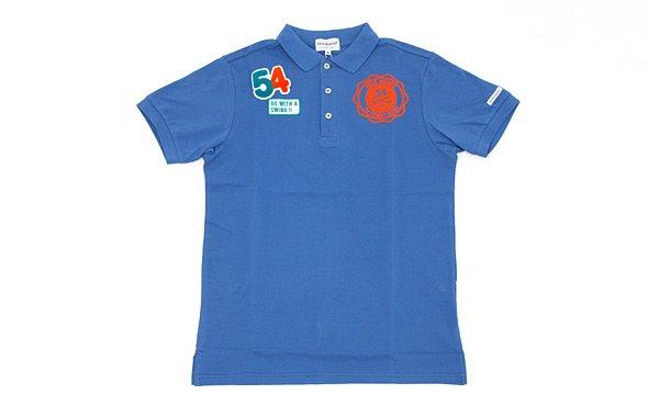 ジャックバニー 「54」ワッペン付きポロシャツ