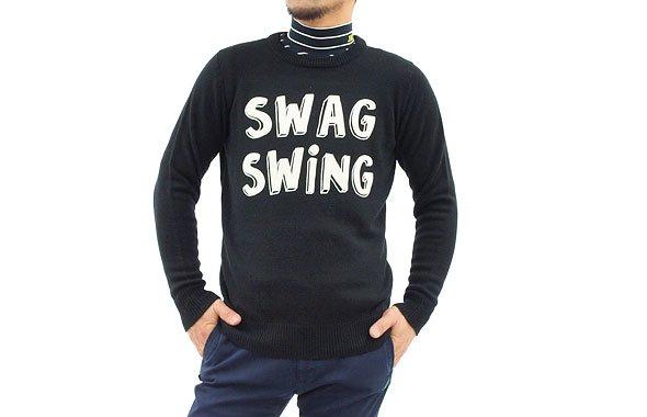 ジャックバニー JB SWINGロゴセーター
