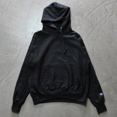 Champion チャンピオン  リバース ウィーブ 12oz Pullover Hood【Black】