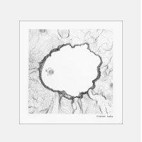 Tim+April / Crater Lake National Park Oregon Topographic Map 12インチ