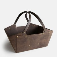 STACK CONTAINERS / BASKET CONTAINER(BROWN)