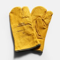 &NUT / &NUT×Welza LEATHER CAMP GLOVES(Yellow)【メール便可 1点まで】