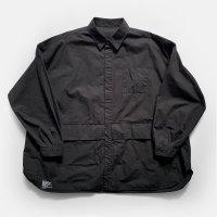 FreshService / CARGO POCKET REGULAR COLLAR UTILITY SHIRT(Black)