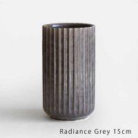 Lyngby Porcelain[リュンビューポーセリン] / Radiance Vase 15cm(Grey)