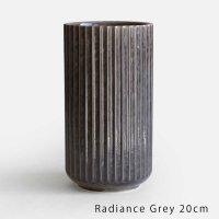 Lyngby Porcelain[リュンビューポーセリン] / Radiance Vase 20cm(Grey)
