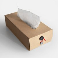 concrete craft / BUTTON TISSUE BOX(Black)
