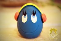 DJたまごちゃん-ブルー-
