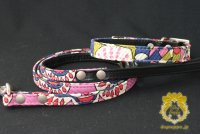 ヴィンテージファブリック カラー&リード セット ピンク  seven seas dog  /アウトレット