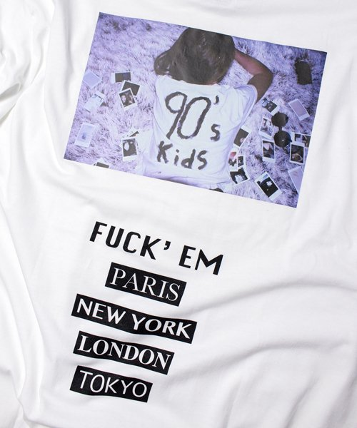 90's KIDS BIG TEE (WHITE)