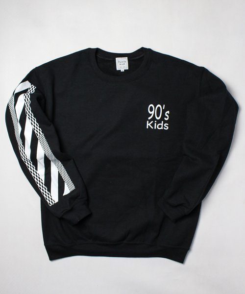 90's KIDS CREW SWEAT(BLACK)