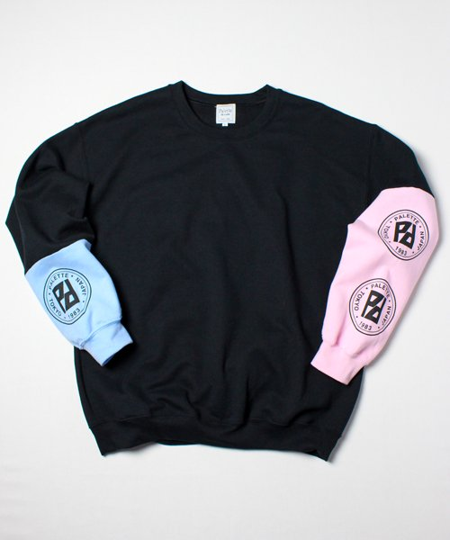 CIRCLE LOGO CRAZY SWEAT(BLACK)