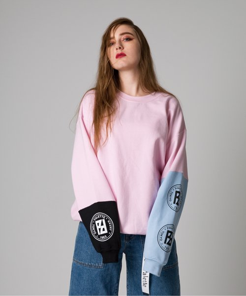 CIRCLE LOGO CRAZY SWEAT(PINK)