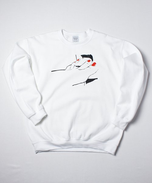 MY STANCE CREW SWEAT(WHITE)