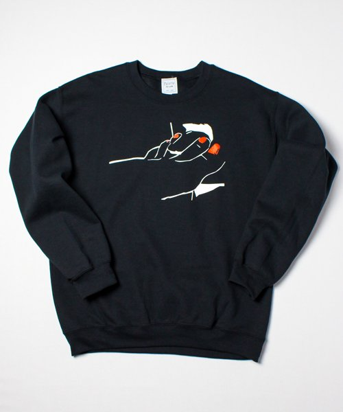 MY STANCE CREW SWEAT(BLACK)