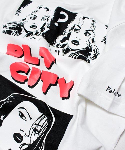 PLT CITY TEE(WHITE)