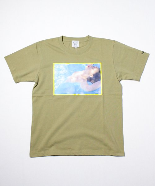 SWIMMING CLUB TEE(KHAKI)