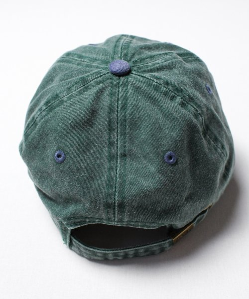 DENIM TWO TONE CAP(GREEN)