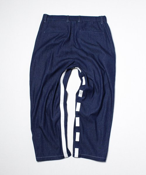 DENIM LINE WIDE UNCLE PANTS