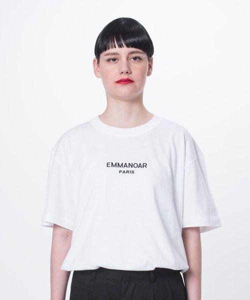 【EMMANOAR】PARIS LOGO TEE(WHITE)