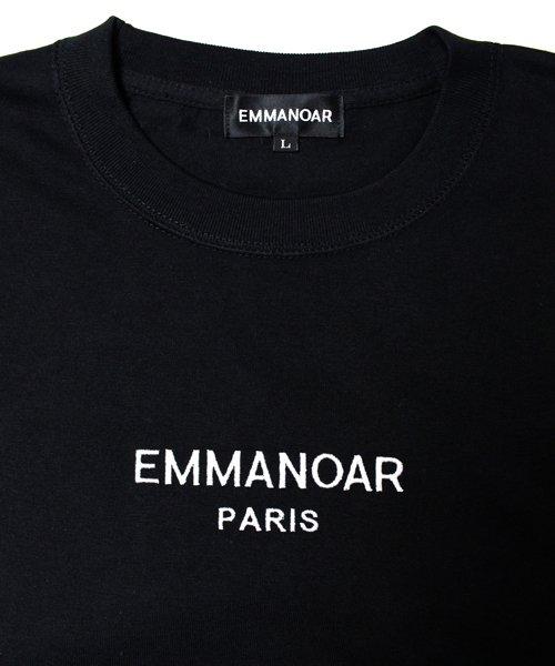 【EMMANOAR】PARIS LOGO TEE(BLACK)