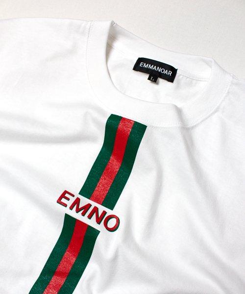 【EMMANOAR】LINE TEE(WHITE)