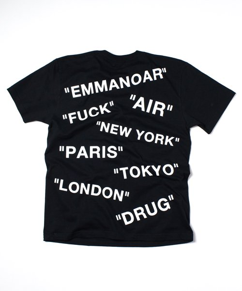 【EMMANOAR】AIR TEE(BLACK)