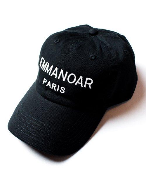 【EMMANOAR】PARIS LOGO CAP(BLACK)