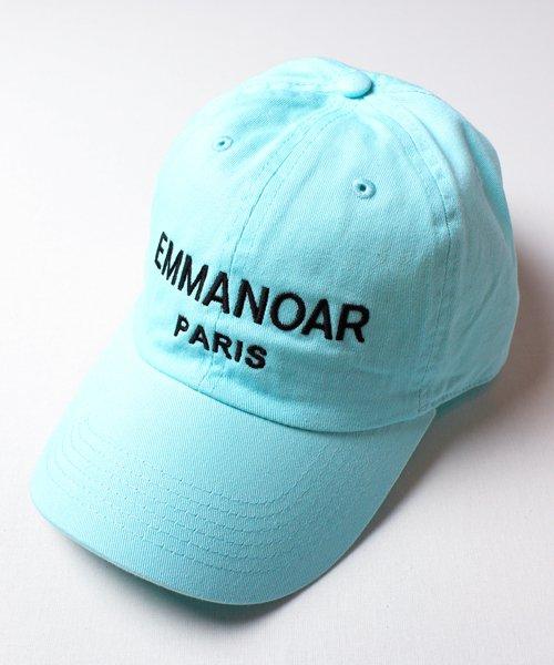 【EMMANOAR】PARIS LOGO CAP(AQUA)