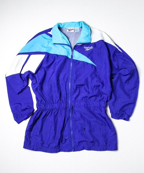【USED】90s REEBOK LONG NYLON JACKET