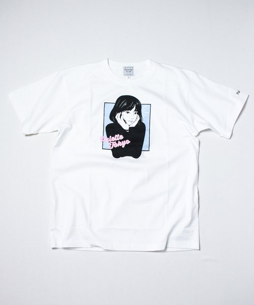 GAZING GIRL TEE(WHITE)