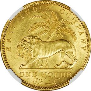 インド 英領インド 東インド会社 1841年 ビクトリア モハール金貨 NGC ...