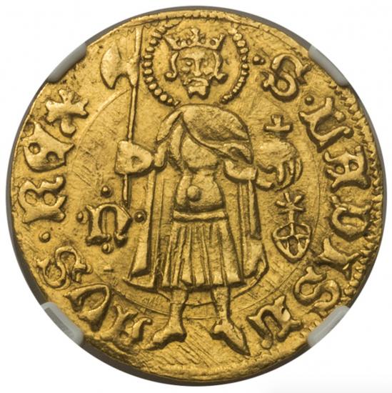 神聖ローマ帝国 ハンガリー 1387-1437 ジギスムント グルデン金貨 NGC ...