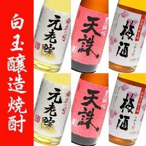 本格芋焼酎 白玉醸造 さつまの梅酒 焼酎セット 1800ml × 6